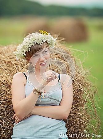 Pretty farm lady