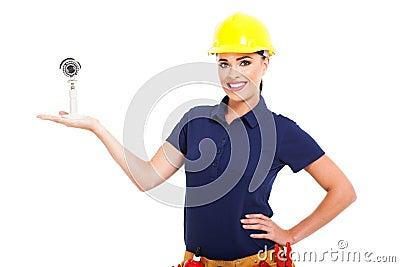 Cctv installer camera