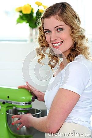 Pretty female chef at work
