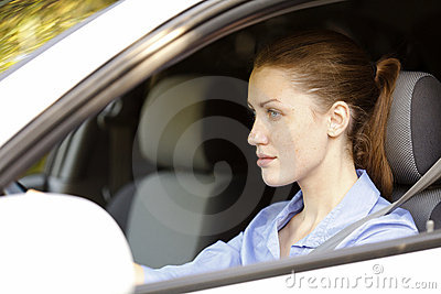Pretty female driver