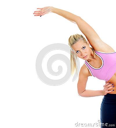 Pretty female fitness trainer