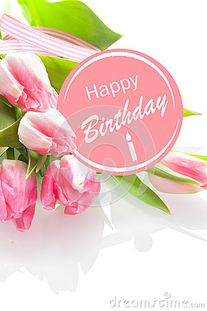 Pretty feminine Happy Birthday greeting