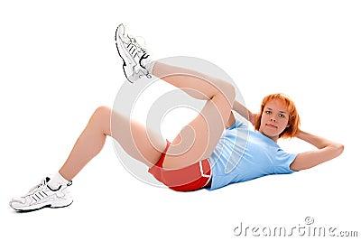 Pretty fitness girl