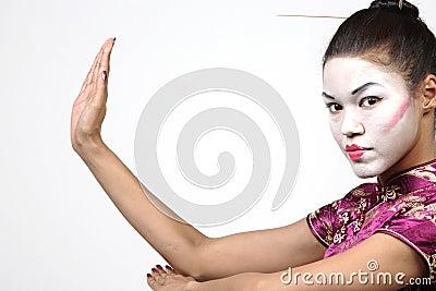 Pretty Geisha woman