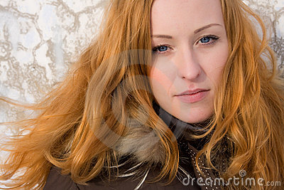 Pretty ginger woman