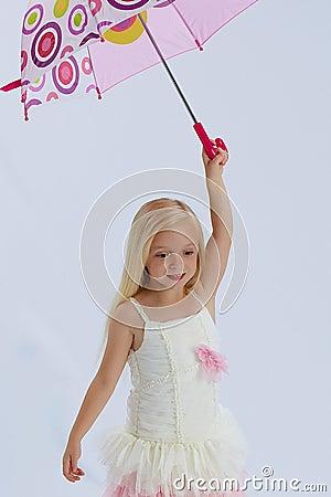 Pretty girl in ballerina dress