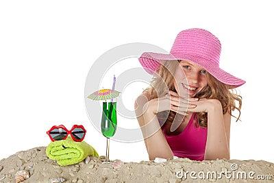 Pretty girl at the beach