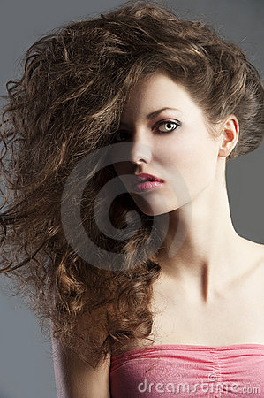Pretty girl with great hair style