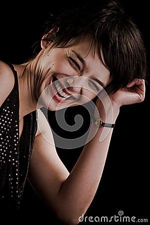 Pretty girl honest smile