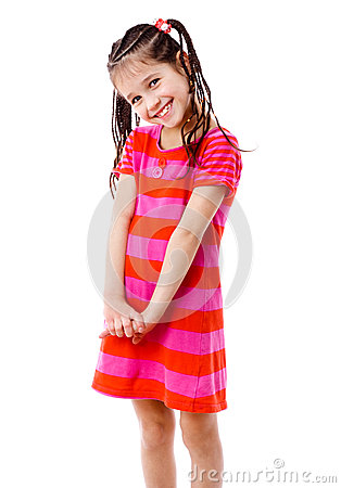 Free Pretty Girl In Pink Dress Royalty Free Stock Images - 24916239