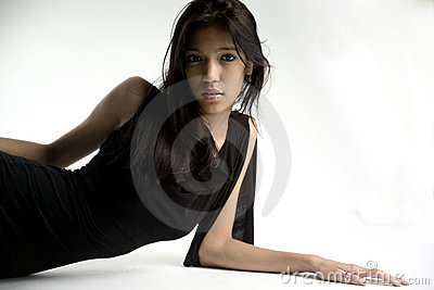 Pretty girl leaning