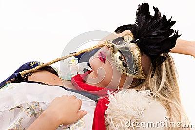Секс с девушкой в карнавальной маске 22 фотография