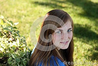 Pretty girl outside