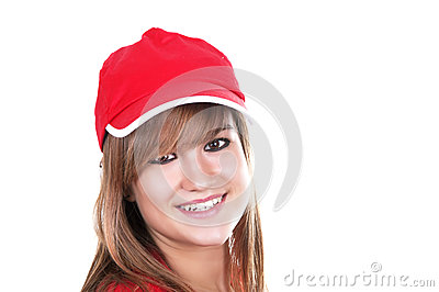 Pretty girl with red cap