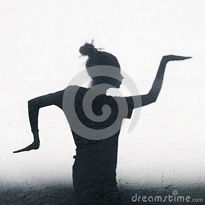 Free Pretty Girl Showing Egyptian Dance Around On White Wall Background Royalty Free Stock Photo - 45462335