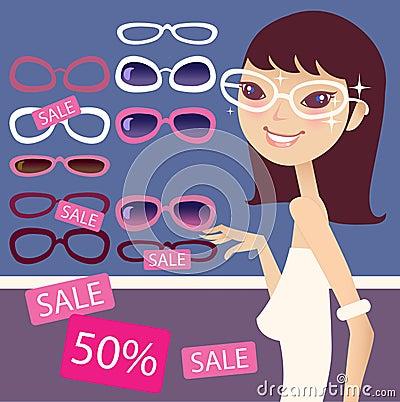 Pretty girl and sunglasses