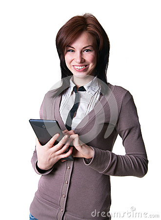 Pretty girl with a tablet