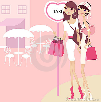 Free Pretty Girl Waiting For Taxi Royalty Free Stock Photo - 2728735