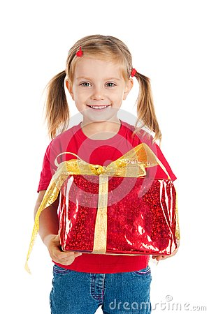 Pretty girl wih the gift