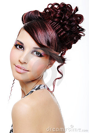 Free Pretty Girl With Creative Hairstyle Royalty Free Stock Photography - 9404067