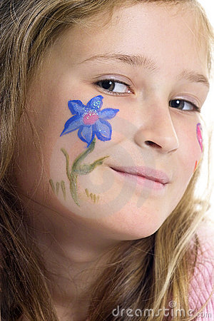 Free Pretty Girl With Flower Butterfly Make-up Stock Image - 871671