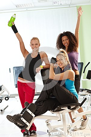 Pretty Girls At The Gym Royalty Free Stock Images - Image: 26387109