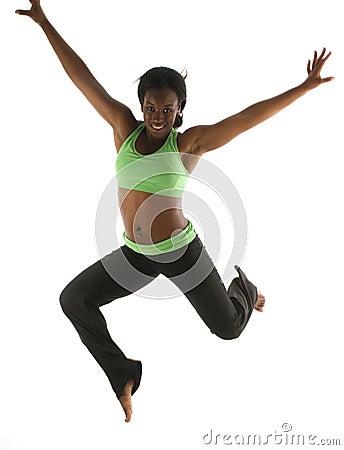Free Pretty Hispanic African American Exercising Royalty Free Stock Photos - 10626008