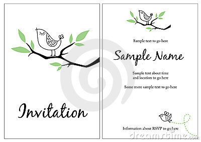 Pretty invitation