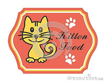 Pretty kitten food label