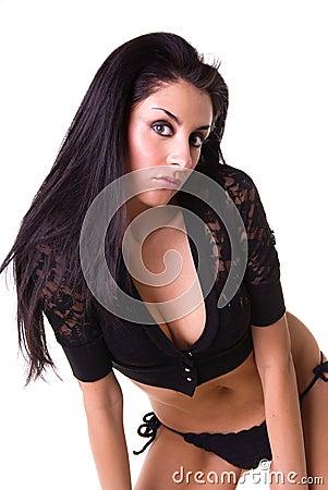Pretty Latin woman.