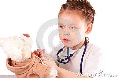 Pretty little doctor girl