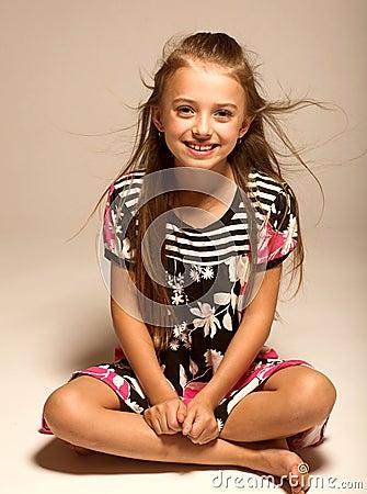 pretty little girl stock images image 5303754. Black Bedroom Furniture Sets. Home Design Ideas