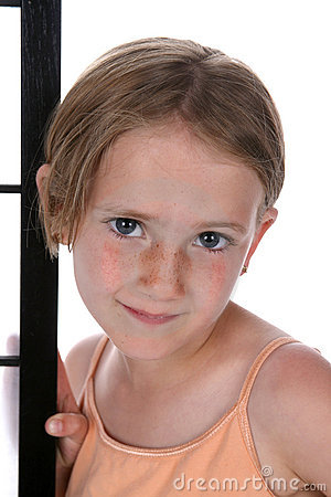 Pretty Little Girl With Freckles Stock Photography Image