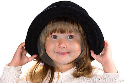 Pretty little girl in hat