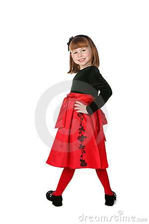Pretty little girl wearing holiday dress