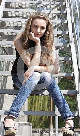 Pretty Lovely brunette girl