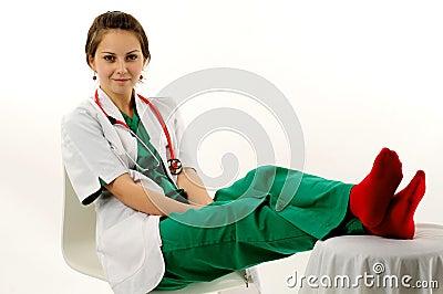 Pretty medical woman