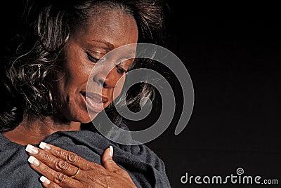 Pretty Middle Aged Black Woman