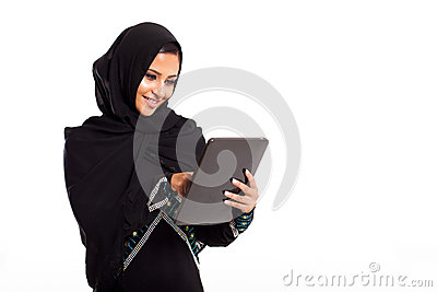 Arabian woman tablet