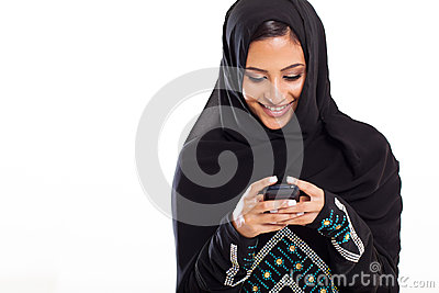 Arabic woman phone