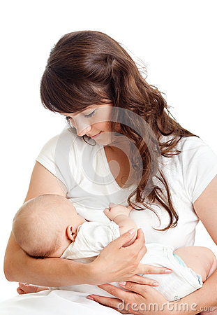Free Pretty Mother Breast Feeding Her Infant Stock Photos - 25130543