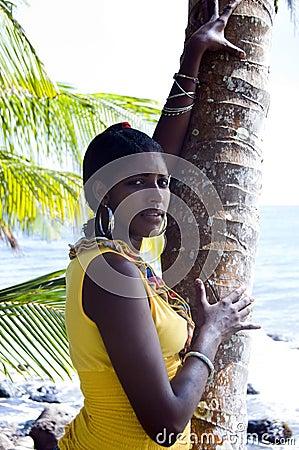 Pretty nicaraguan woman portrait