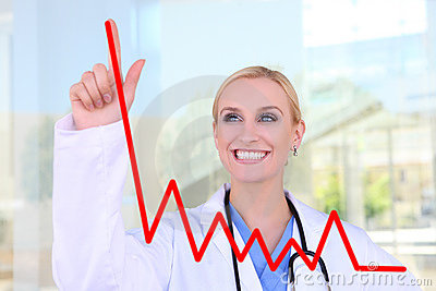 Pretty Nurse Drawing Graph