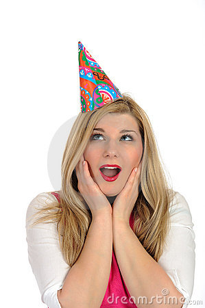 Free Pretty Party Female Celebrating Birthsday Stock Images - 19014664