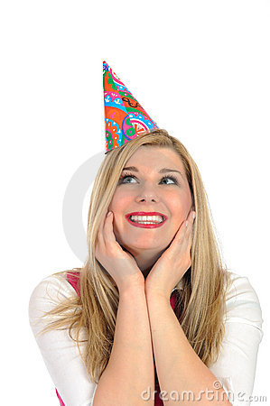 Free Pretty Party Female Celebrating Birthsday Royalty Free Stock Photos - 19014698