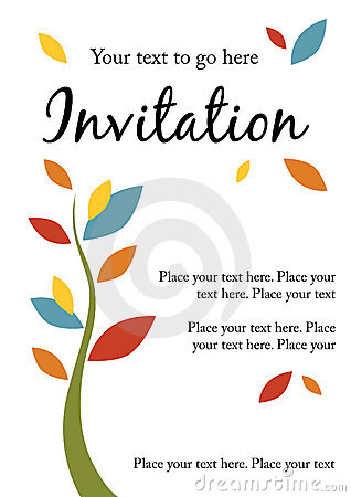 Pretty party invitation