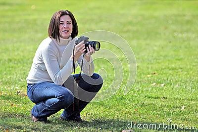 Pretty photographer