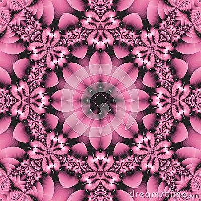 Pretty pink floral mandala