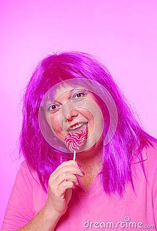 Free Pretty Pink Lollipop Lady Stock Photo - 24725640