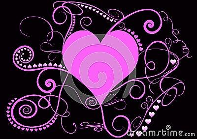 Pretty pink spiral heart